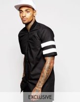 Underated @ ASOS €69 - Baseball Shirt With Scuba Stripes http://bit.ly/1W8ZRX0