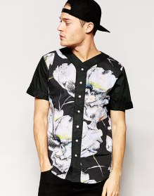 Standard Issue @ ASOS €58 - Baseball Shirt with All Over Large Floral Sublimation Print http://bit.ly/1Kxu26j