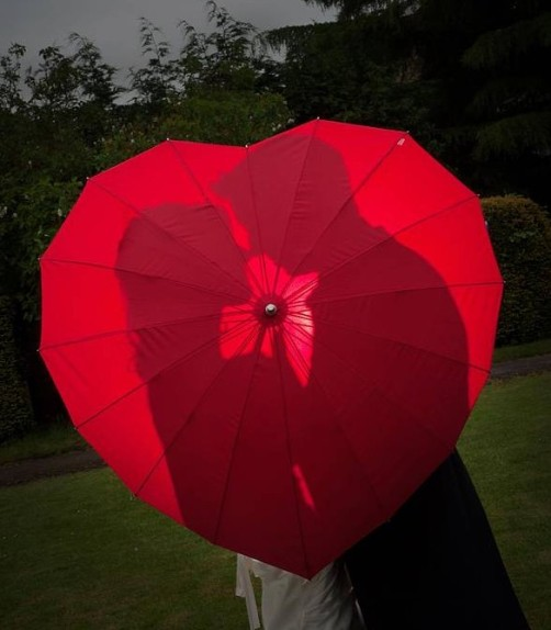 Love Umbrella €22 - Red Heart Shape http://bit.ly/1t87N9U