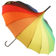 Love Umbrella €18 - Rainbow Pagoda Style http://bit.ly/1qnjTfh
