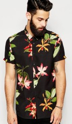 ASOS €35.55 - Shirt In Short Sleeve With Floral Print http://bit.ly/1jvZ3NY