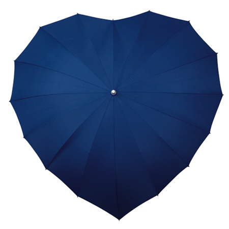 Love Umbrella €22 - Dark Blue Heart Shape http://bit.ly/1ztNV9q