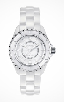 Chanel J12 White €4,006/£3,325 - http://www.thewatchgallery.com/shop/chanel-j12-white-quartz-ladies-watch-h3442.html