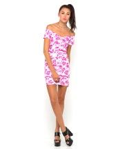 €50 - Danielle Off Shoulder Dress in Monorose Pink http://tinyurl.com/lerk7nc