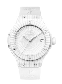 Hublot Big Bang White €9,760/£8,100 - http://www.thewatchgallery.com/shop/hublot-big-bang-caviar-white-ceramic-346-hx-2800-rw.html