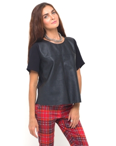 €45 - Imani Leather Look Tee http://tinyurl.com/ppp2tpp