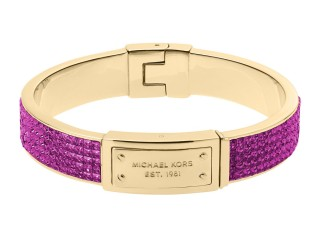 Michael Kors €75.65 - Pave Plaque Bangle, Berry/Golden http://tinyurl.com/qb96r58