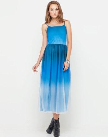 €28 - Phoebe Midi Dress in Blue Ombré Mesh http://tinyurl.com/ltw5tog