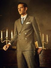 Pierz Checked Linen Double Breasted Suit - €575 http://tinyurl.com/PIERZ-TB