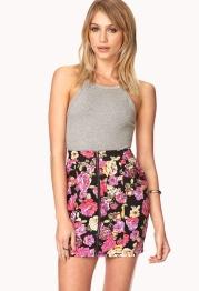 Forever 21 €15.75 - Throwback Floral Mini Skirt http://tinyurl.com/q5mzwot