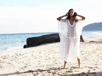 Cara white crochet cotton maxi dress