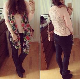 Pense à Toi Paris Lace Back Knit - http://instagram.com/p/lMc3UBvoFM/