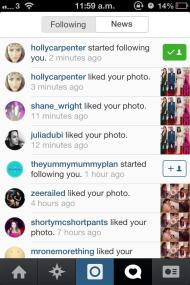 Today's Instagram highlight: Holly Carpenter followed me, hello!