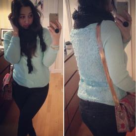 Pense à Toi Paris Lace Back Knit - http://instagram.com/p/lEy_MuPoNa/