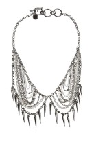 French Connection €25 - Chain And Spike Collar Necklace http://tinyurl.com/ore53h2