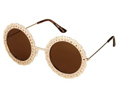 Topshop €24.30 - Round Sunflower Sunglasses