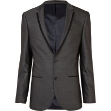 Grey Contrast Suit Jacket €80 - http://eu.riverisland.com/men/suits/slim-fit/grey-contrast-slim-suit-jacket--260253