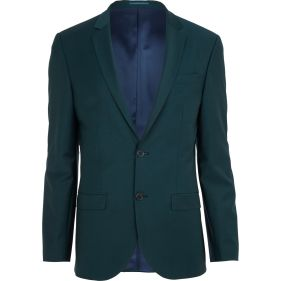 Dark Green Wool-Blend Slim Suit Jacket €135 - http://eu.riverisland.com/men/suits/slim-fit/Dark-green-wool-blend-slim-suit-jacket-274385