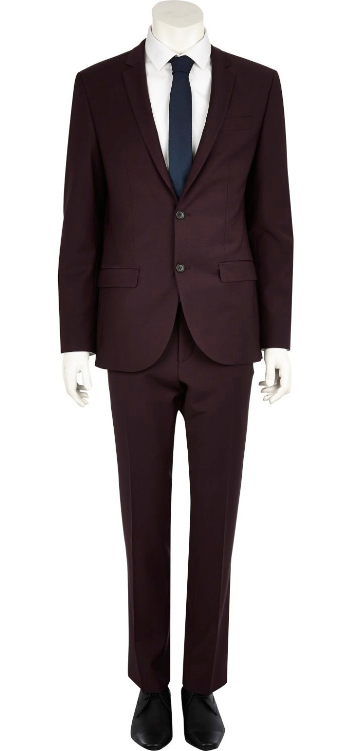 Plum Slim Suit Jacket €135 - http://eu.riverisland.com/men/suits/slim-fit/Plum-slim-suit-jacket-274387