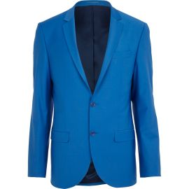 Bright Blue Wool-Blend Slim Suit Jacket €135 - http://eu.riverisland.com/men/suits/slim-fit/Bright-blue-wool-blend-slim-suit-jacket-274389