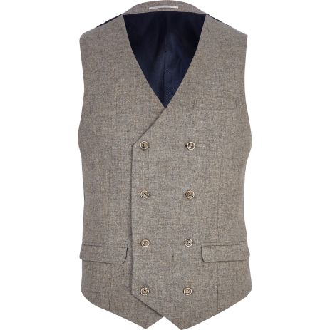 Light Brown Double Breasted Waistcoat €65 - http://eu.riverisland.com/men/suits/waistcoats/Light-brown-double-breasted-waistcoat-274829