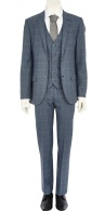 Blue Check Slim Suit Jacket €135 - http://eu.riverisland.com/men/suits/slim-fit/Blue-check-slim-suit-jacket-276578