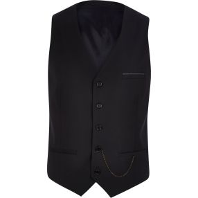 Black Single Breasted Waistcoat with Chain Detail €45 - http://eu.riverisland.com/men/suits/waistcoats/Black-single-breasted-chain-waistcoat-278035