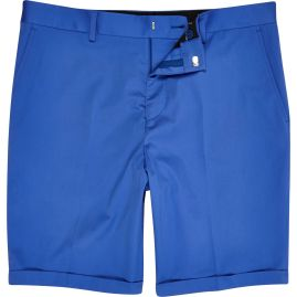 Limited Edition Cobalt Blue Slim Suit Shorts €40 - http://eu.riverisland.com/men/suits/slim-fit/Cobalt-blue-slim-suit-shorts-279223
