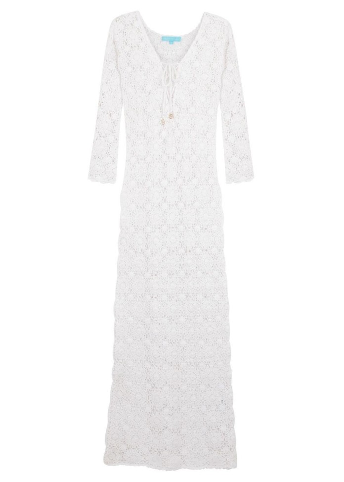 Cara white crochet cotton maxi dress €345