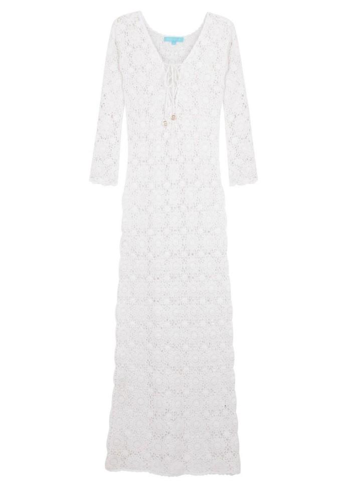 Cara white crochet cotton maxi dress €345