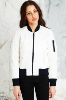 Schott €105 - Bomber Jacket in White http://www.urbanoutfitters.com/uk/catalog/productdetail.jsp?id=5139445880008&parentid=WOMENS-COATS-JACKETS-EU