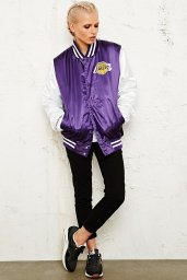 Mitchell & Ness €50 - Los Angeles Lakers Varsity Jacket http://www.urbanoutfitters.com/uk/catalog/productdetail.jsp?id=5139448830015&parentid=WOMENS-COATS-JACKETS-EU