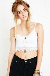 Urban Outfitters €35 - Crochet Trim Crop Top http://tinyurl.com/k9ywgfv