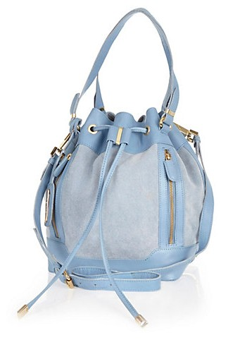 River Island €87 - Light Blue Leather Duffle Bag http://eu.riverisland.com/women/bags--purses/shoulder-bags/Light-blue-leather-duffle-bag-647983