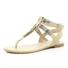River Island €45 Metal Bracelet Sandals http://tinyurl.com/ovep34n