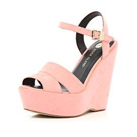 River Island €50 - Coral Wedge Sandals http://eu.riverisland.com/women/shoes--boots/wedges/Coral-wedge-sandals-649419