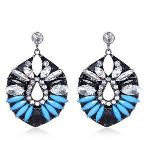 River Island €17 - Blue Gemstone Jelly Earrings http://eu.riverisland.com/women/jewellery/earrings/Blue-gem-stone-cocktail-earrings-650455