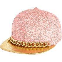 River Island €25 - Pink Leopard Chain Trim Cap