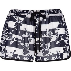 River Island €16 - Blue Floral Striped Shorts http://eu.riverisland.com/women/swimwear--beachwear/cover-ups/Blue-floral-stripe-print-runner-shorts-653933