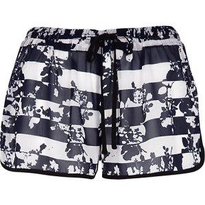 River Island €16 - Blue Floral Striped Shorts http://eu.riverisland.com/women/swimwear--beachwear/cover-ups/Blue-floral-stripe-print-runner-shorts-653933