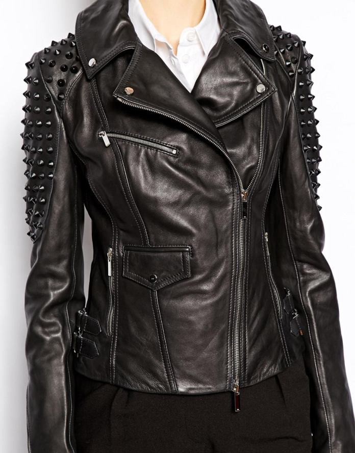 Karen Millen €700 - Leather Jacket with Studding http://tinyurl.com/nv43ket