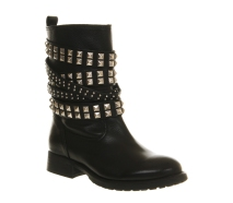 Office €139 - Bling Biker Black Leather Boots http://bit.ly/ZC3eh9