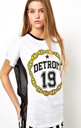 ASOS €18.26 - T-Shirt with Detroit Print and Open Mesh Panels http://tinyurl.com/l7rskbg