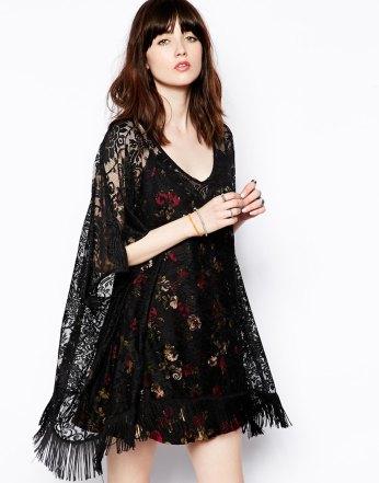 ASOS €39 - Kimono Top in Lace with Fringe Hem http://tinyurl.com/qjyshv2