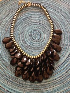 Multi Gem Chain Statement Necklace