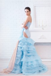 Blue & Beige Ruffled Gown €1,440 http://phoenixanna.com/index.php?route=product/product&path=61&product_id=74