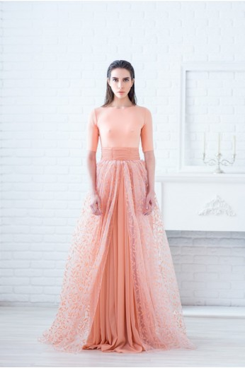 Coral Sleeved Gown €1,008 http://phoenixanna.com/index.php?route=product/product&path=61&product_id=76