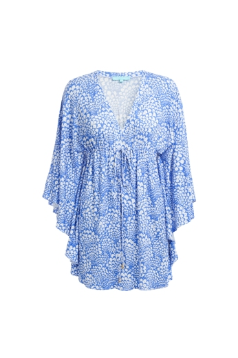 Kelli Fan Blue Kaftan €299 http://seagreen.ie/products-page/swimwear/melissa-odabash-5/