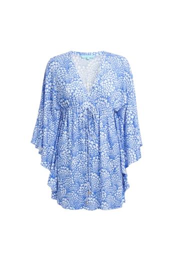 Kelli Fan Blue Kaftan €299 http://seagreen.ie/products-page/swimwear/melissa-odabash-5/