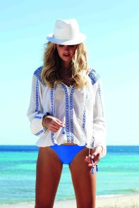 Patty White Blue Top & Sumatra Bikini